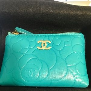 Chanel Camellia Embossed Key Pouch